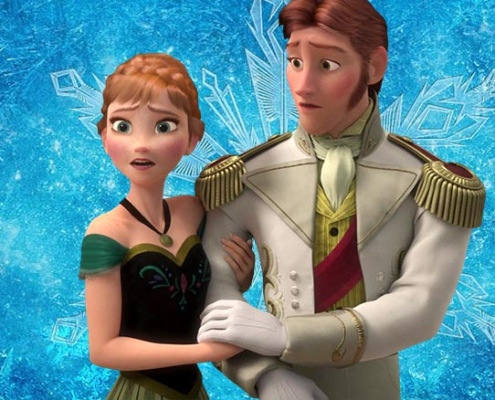 Anna en Hans Frozen kleurplaten