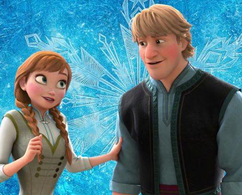 Anna en Kristoff frozen kleurplaten
