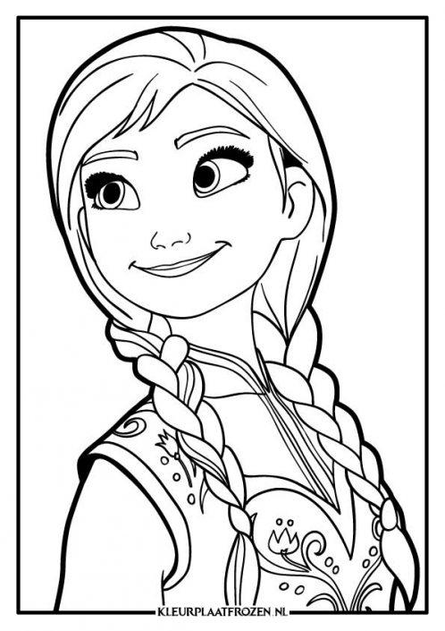 Kleurplaat van Anna haar gezicht