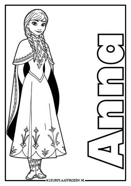 Kleurplaat van Anna met naam
