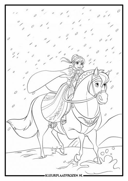 Anna op een paard