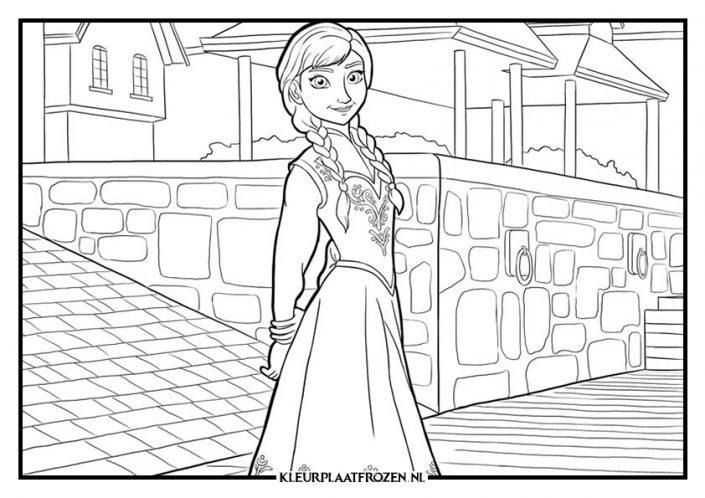 Kleurplaat van Anna voor kasteel