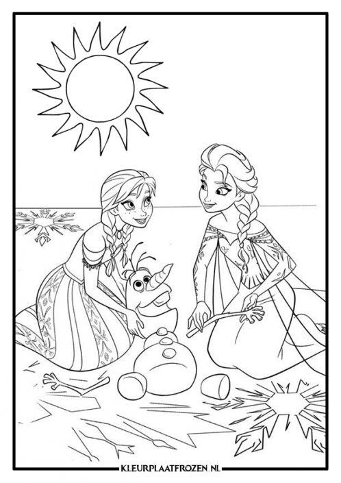 Kleurplaten Elsa En Anna.Elsa Anna Kleurplaat Uitprinten Op Kleurplaat Frozen