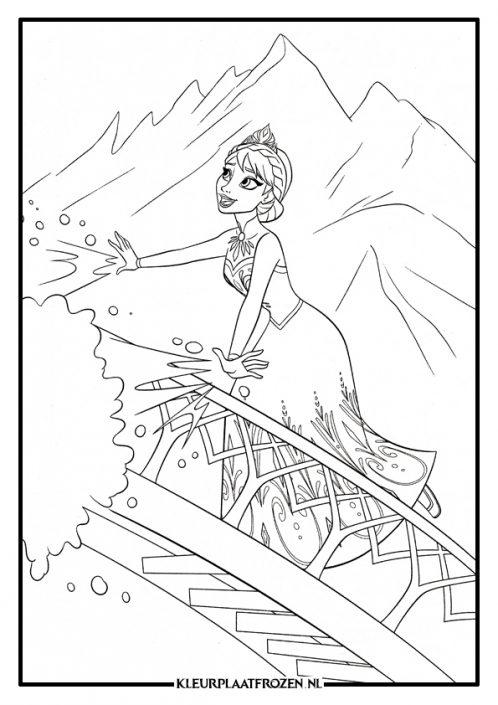 Elsa kleurplaat trap