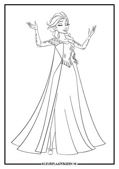 Elsa kleurplaat zinht laat het los