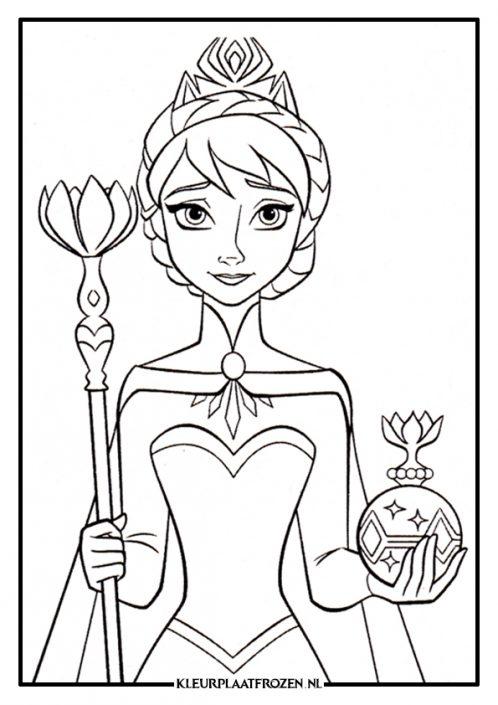 Elsa kleurplaat