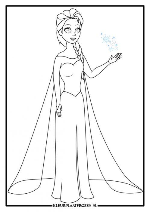 Kleurplaat Elsa Frozen