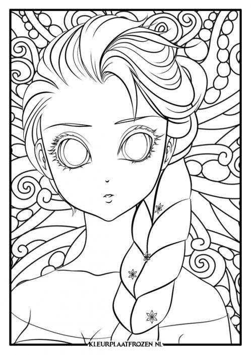 Elsa manala kleurplaat