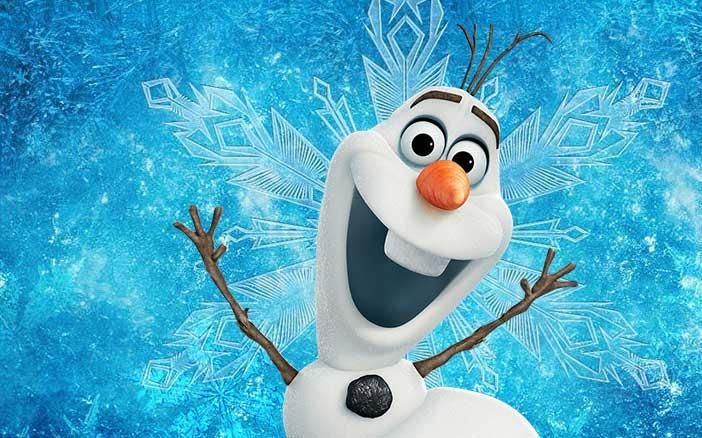 Olaf frozen kleurplaten