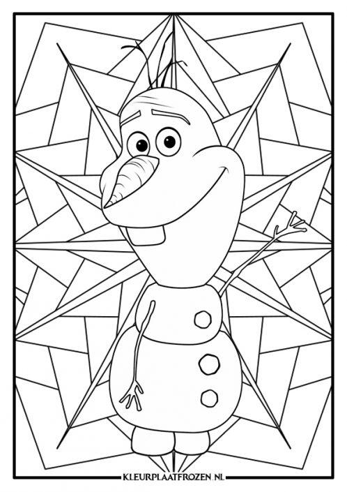 Mandala Kleurplaat van Olaf uit Frozen
